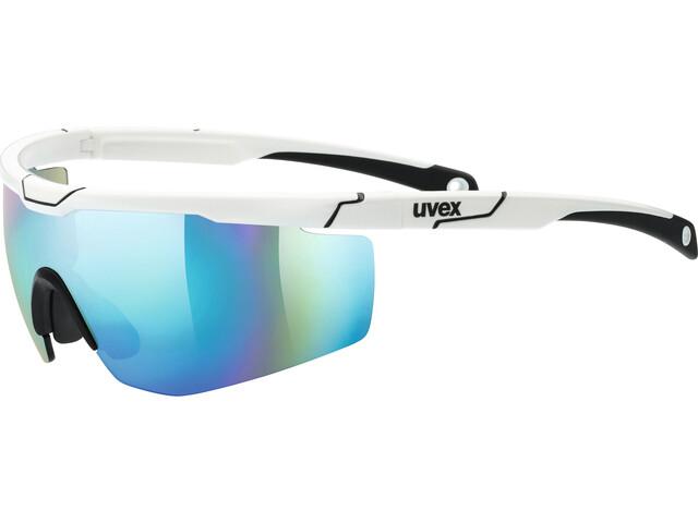 UVEX Sportstyle 117 Sportsbriller, white/blue